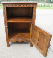 Carved Oak Bedside Cabinet